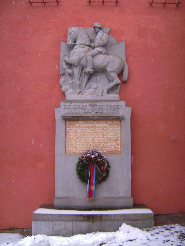 Gedenktafel vom 1. Weltkrieg am Rathaus Bopfingen-min